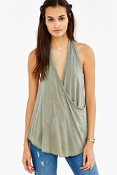 Truly Madly Deeply Wrap Halter Top Green