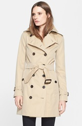Burberry 'Sandringham' Slim Trench Coat Honey