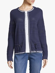 Betty Barclay Fine Textured Knit Cardigan Peacoat Blue