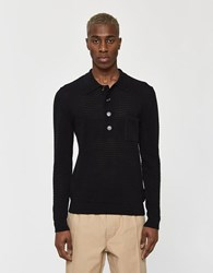 Cmmn Swdn Curtis Knit Polo Black