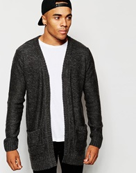 New Look Cardigan With Waterfall Front Charcoal