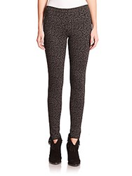 Joie Keena Smudge Print Ponte Leggings Heather Charcoal