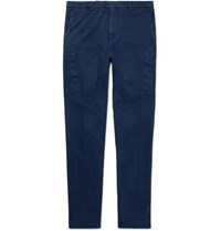Brunello Cucinelli Stretch Cotton Cargo Trousers Storm Blue