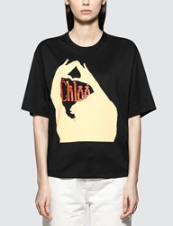 Chloe Oversized Printed Cotton Jersey T Shirt