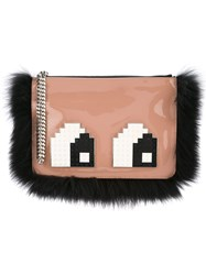 Les Petits Joueurs Envelope Small Eyes Clutch Pink