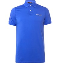 Rlx Ralph Lauren Airflow Jersey Polo Shirt Blue