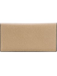 Valextra Vertical Wallet Nude And Neutrals