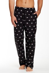 Lucky Brand Printed Flannel Pajama Pant Black