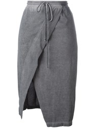 Lost And Found Ria Dunn Drawstring Wrap Pencil Skirt Women Cotton S Grey