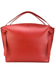 Jil Sander Hill Duo Holdall Women Calf Leather One Size Red