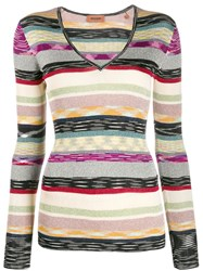 Missoni Striped Ribbed Jumper Neutrals