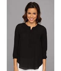 Nydj Georgette Blouse Black Women's Blouse