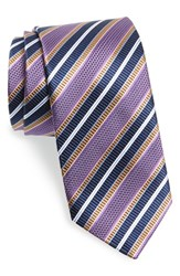 Men's J.Z. Richards Stripe Silk Tie Purple