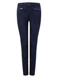 Phase Eight Victoria Brushed Zip Jeans Blue