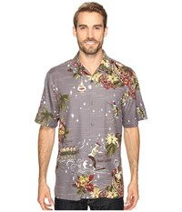Tommy Bahama Merry Kitchmas Short Sleeve Woven Shirt Album Men's Short Sleeve Button Up Gray
