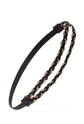 Forever 21 Braided Chain Headband Black Gold