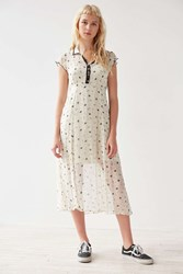 Cooperative Space Cowgirl Midi Dress Cream Multi