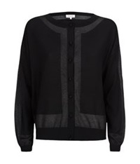 Paul And Joe Metallic Contrast Cardigan Black