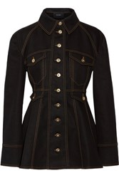 Ellery Bonnie Denim Peplum Jacket Black