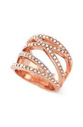 Women's Vince Camuto Negative Space Pave Ring Rose Gold