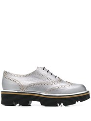 Pollini Studded Brogues Silver