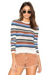 Rvca Polly Cropped Sweater White