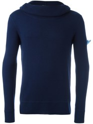 Cruciani Roll Neck Jumper Blue