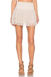 Misa Los Angeles Pilar Lace Ruffle Skirt Cream