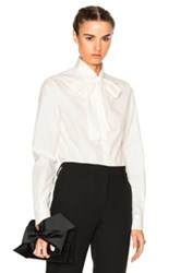 Msgm Bow Top In White