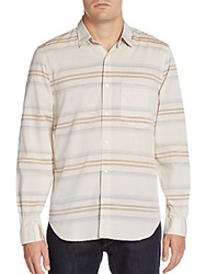 7 For All Mankind Mixed Stripe Cotton Sportshirt