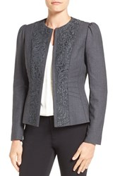 Tahari Women's Elie 'Melody' Lace Trim Jacket