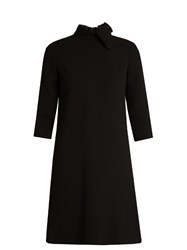 Goat Ava A Line Wool Crepe Dress Black