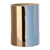 Pols Potten Triple Colour Glazed Vase 20Cm Red Light Blue Bronze