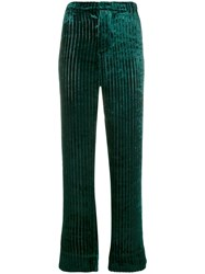 F.R.S For Restless Sleepers High Waisted Piping Trousers Green
