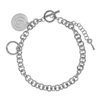 Maison Martin Margiela Mm6 Silver Chain Link Necklace