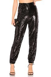 By The Way Cat Sequin Jogger Black