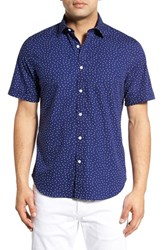 Men's Toscano Regular Fit Polka Dot Print Sport Shirt