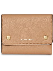 Burberry Small Leather Folding Wallet Neutrals