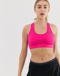Adidas Training Don't Rest Bra In Pink Pink