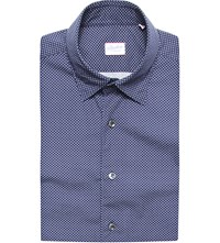 Slowear Micro Pattern Cotton Shirt Navy
