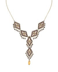 Miguel Ases Beaded Necklace 15 Gold Multi