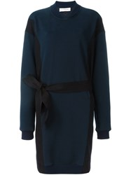 A.F.Vandevorst Belted Sweater Dress Blue