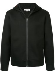 Ck Calvin Klein Sculpted Double Face Hooded Track Jacket Black