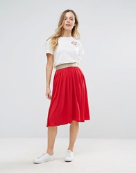 Wal G Pleated Skirt Red