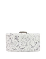Sondra Roberts Studded Lace Clutch White