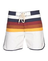 Lightning Bolt Swim Trunks White