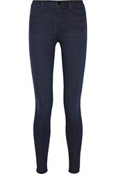 J Brand The Maria Stocking High Rise Skinny Jeans Blue