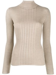 Etro Ribbed Jumper Neutrals