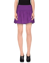 Blu Byblos Skirts Mini Skirts Women Purple