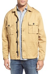 Men's Civilianaire 'Peace' Herringbone Military Jacket Tan Khaki